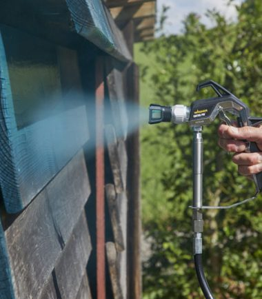 Outdoor Shed Spraying - Wagner - Control Pro 250 M - Sprayquip-Ltd